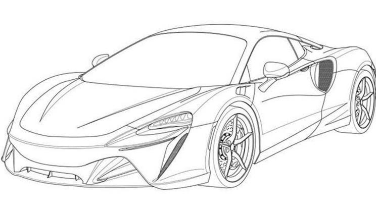 迈凯伦混动跑车专利图 2021年正式发布